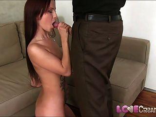 Amor creampie lindo joven aficionado casting para iniciar el porno