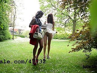2 lesbianas sluts exhibicionista en el parc