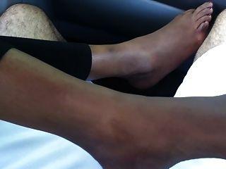 Pie pies fetiche indio (footjob sexy, plantas de los pies y tease)