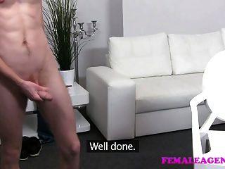 Femaleagent skinny stud cumple con milf experimentado