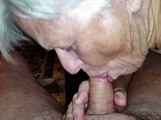 Abuelita chupar mi polla