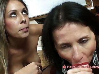 Hija de puta gana concurso de mamada sobre la nueva esposa caliente
