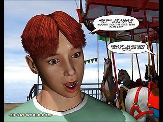 Charlie en el carnaval: dibujos animados anime 3d hentai comics