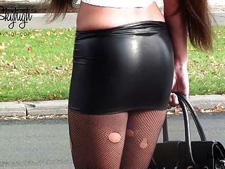 Judy skyhigh puta drogado falda spandex y vientre desnudo