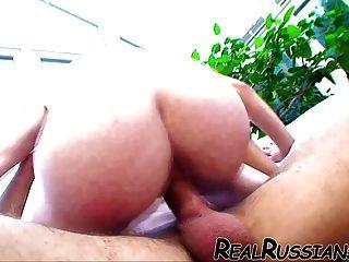 Caliente novia rusa follada por novio!