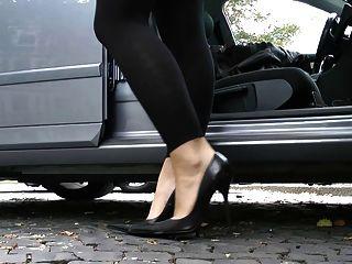 Último cuero talones stilettos zapatos cuero leder 3