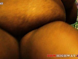 Grasa ebano bbw con grandes tetas chupa polla grande negro