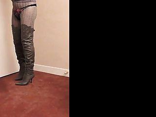 Nadine cd thighboots, tacones altos y lencería