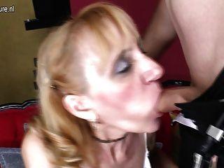 Madura puta madre follada por el niño y se facial