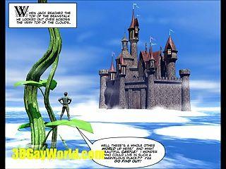 Jack \u0026 beanstalk 3dgay dibujos animados cómico gay famoso cuento de hadas