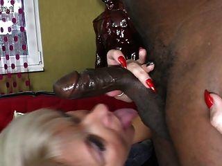Posh madura mama toma gran polla negro