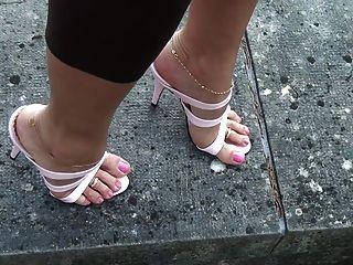 Tacones altos rosados