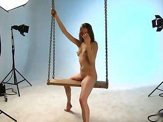 Bailarina annettSesión de fotos de balancín.