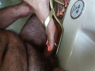 Shoejob con pulido naranja