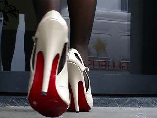 Sandalias de tacones altos y pies de nylon 2