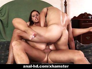 Cachonda anal babe lauren phoenix obtiene doble penetración