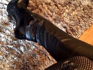 Culo de cuero julie skyhigh y botas lorenzi tacones altos