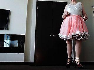 Sissy ray en vestido rosa sissy 2