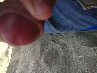 Cuming en la playa