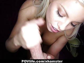 Povlife busty blonde britney amber le gusta follar