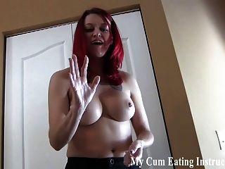 Si te masturbas conmigo tienes que comer tu propio cum cei