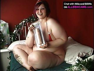 Chubby girl lo hace xmass way bbw 1