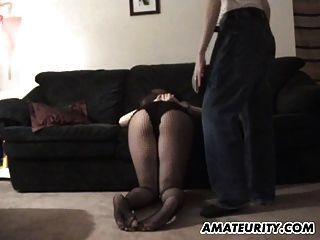 Mamada novia amateur embarazada con cum en tetas