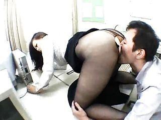 Sexo asiático de culto de pantyhose