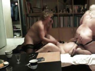 Dos aficionados amateur córnea y su amante