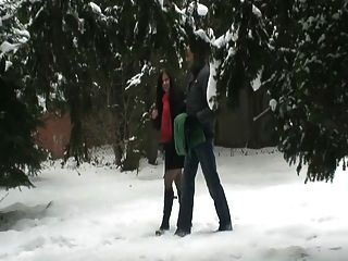 Sexo público en la nieve