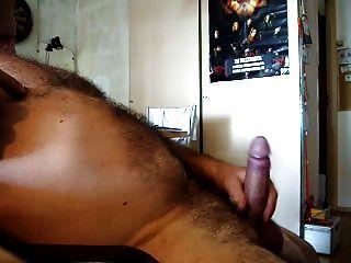 Gimiendo y cum caliente, jugando dick y bolas con cockring