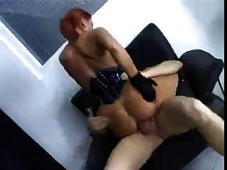 Chica alemana follada en su culo