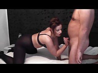 Cum sobre mis pantyhose (shoejob)