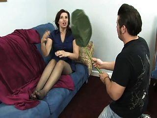 Adoración del pie del pantyhose