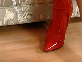 Botas nicoletta azul rojo