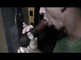 Grueso negro gloryhole cumming polla