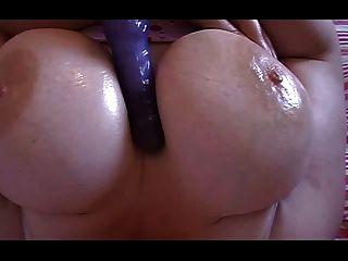 Bbw titty juego y masturbación