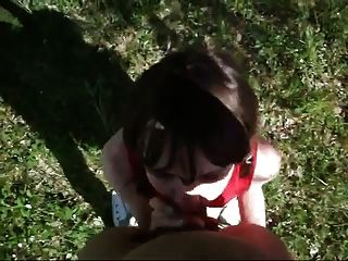 Aficionada sumisa chica obtiene la cara follada # 5