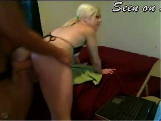 Lesbian strapon sexo anal