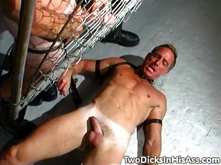 Doble anal dicked leatherman