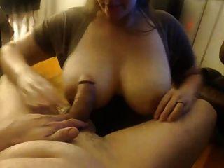 Big wifey mama chupa de su hombre, toma facial