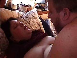 Esposa bbw obtener follada y cumshot titty