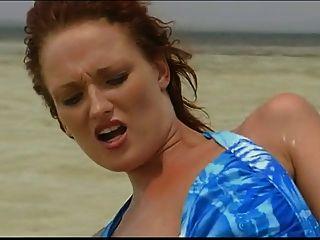 Puta británica donna marie se folla en el mar