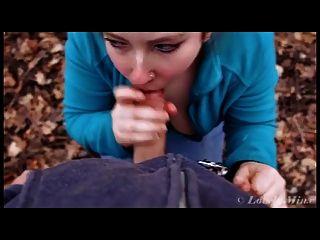 Mamada en el bosque y facial