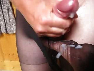 Ella me pidió a cum en pantyhose