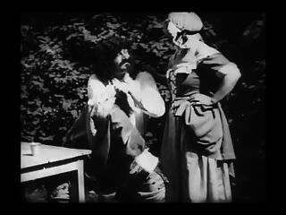 Película erótica vintage 8 mousquetaire au restaurant 1910
