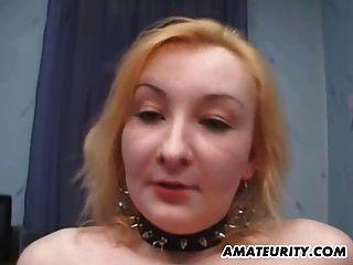 Amateur novia anal trío con facial