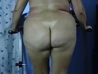 Bbw culo desnudo gordo culo treadmill ejercicio negrofloripa