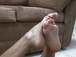 Modelo del fetiche del pie