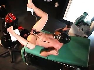 Gasmask mistress electro play